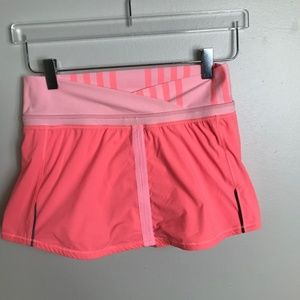 LULULEMON Orange & Pink SKORT Yoga SHORTS 2144